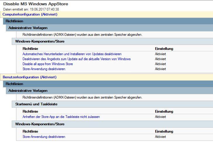 windows app store blockieren goo Gruppenrichtlinie