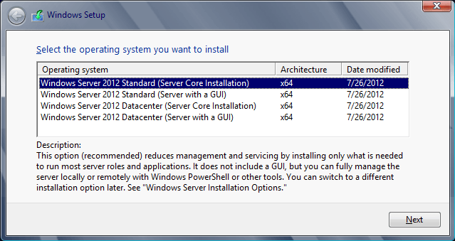 core server