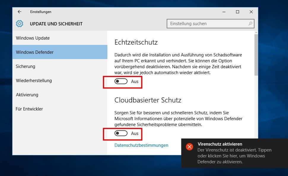 windows defender win 7 deaktivieren