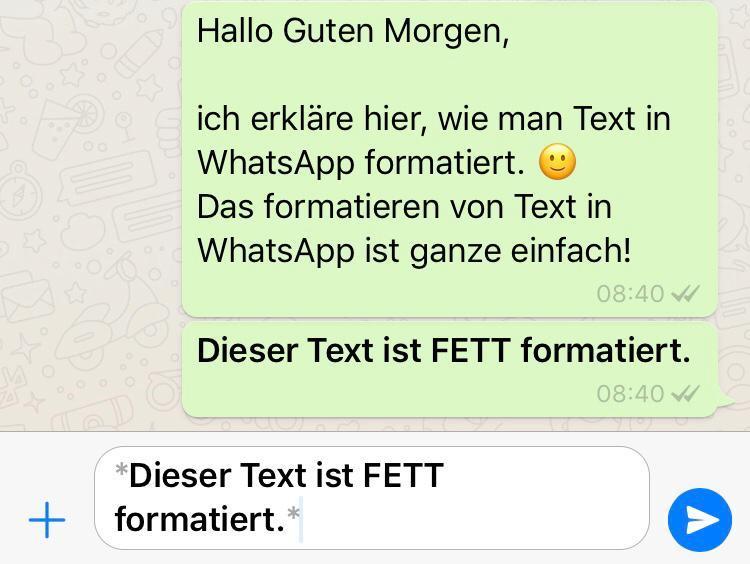 WhatsApp Text fett formatieren