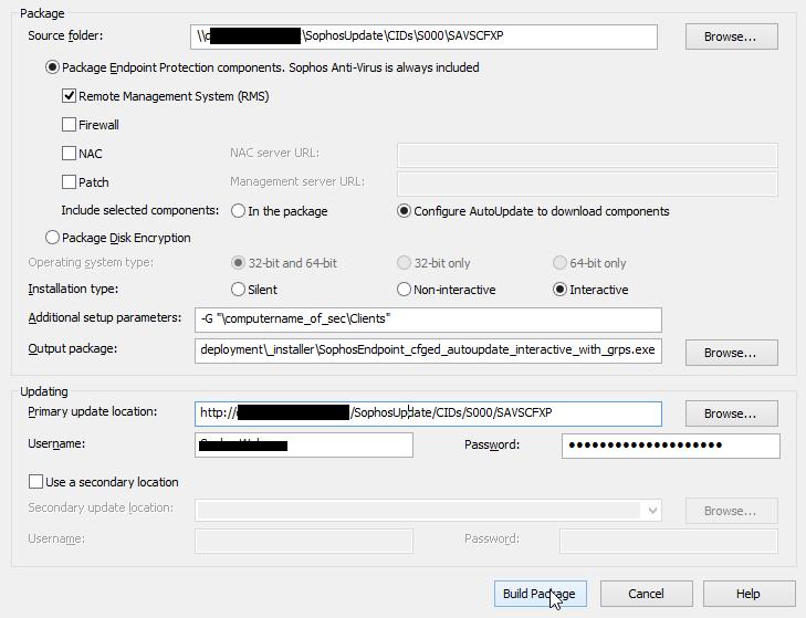 sophos deployment