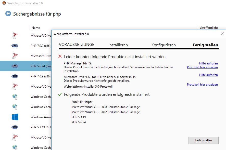 PHP für IIS installieren
