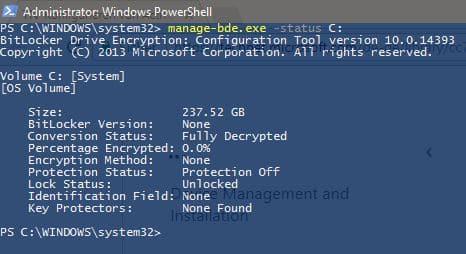 BitLocker Status per PowerShell anzeigen