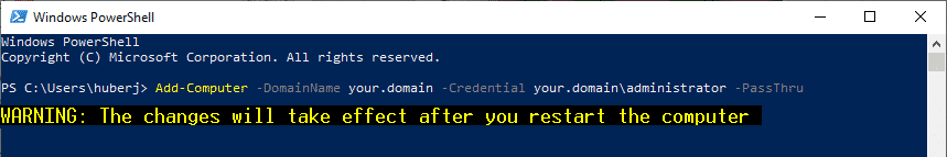 Computer in domäne powershell