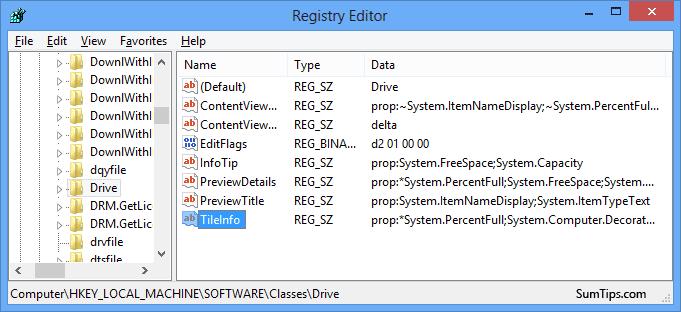 Speicherplatz Anzeige / Balken ausblenden registry
