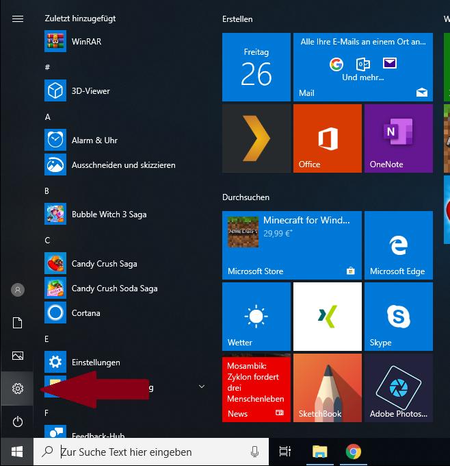 Benutzer hinzufügen Windows 10 Einstellungen