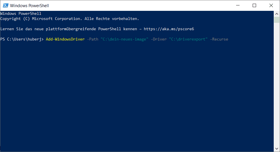 Windows Treiber Importieren PowerShell