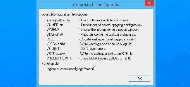 bginfo parameter
