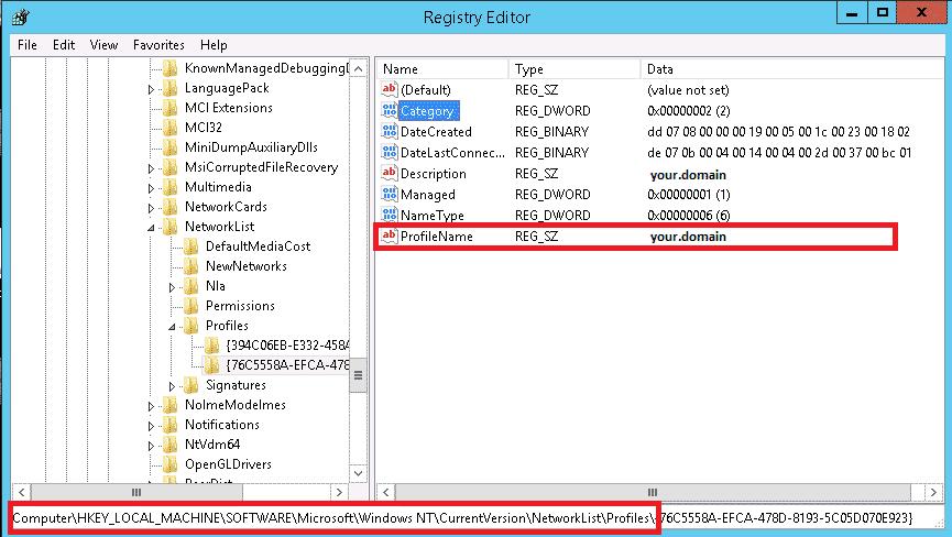 netzwerk umbenennen registry