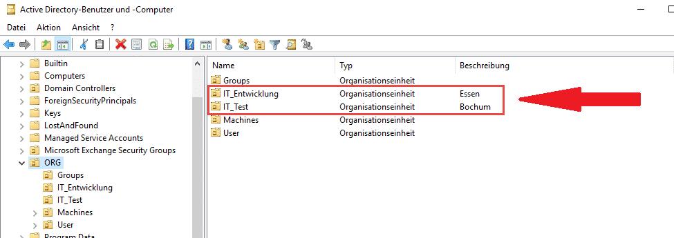 Active Directory OU erstellen PowerShell