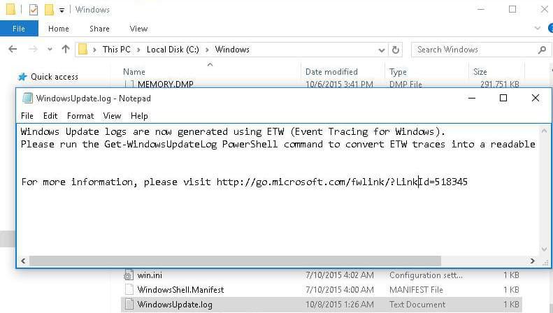 WindowsUpdate.log Windows