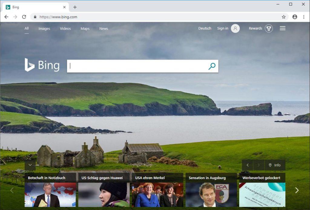 Google Alternative Suchmaschine Bing