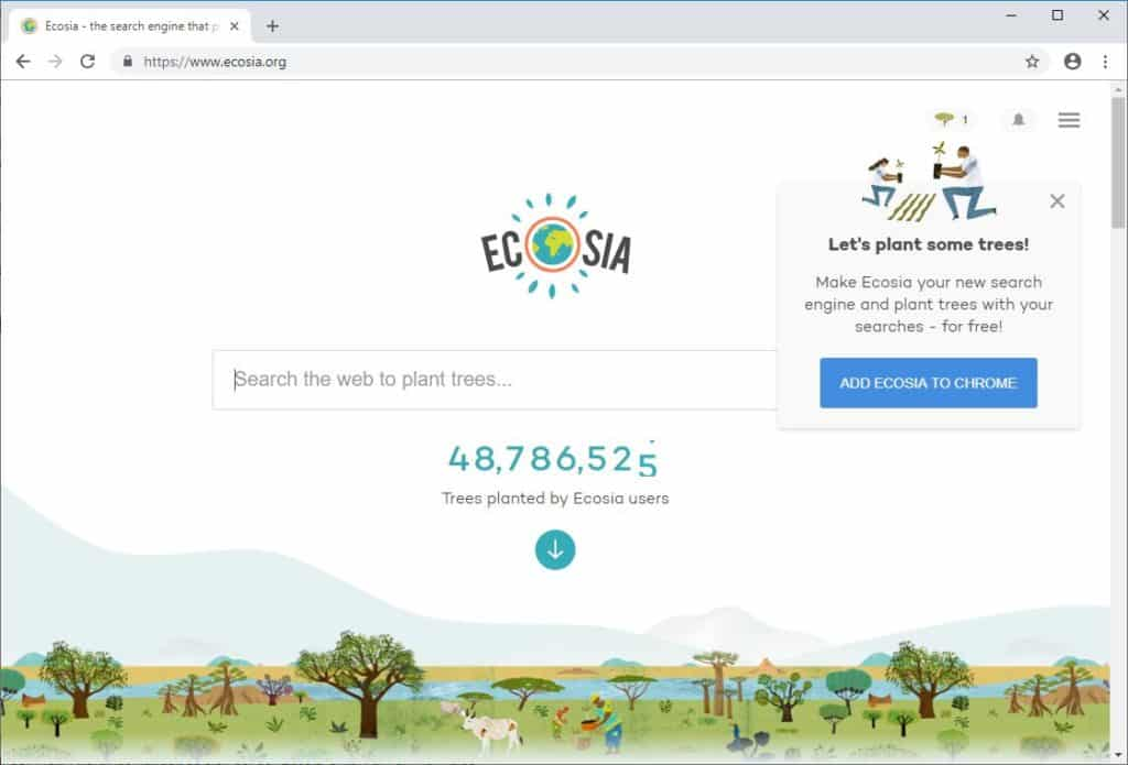 Google Alternative Suchmaschine Ecosia