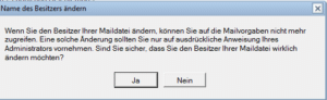 Notes Mail-In Datenbank erstellen Warnung