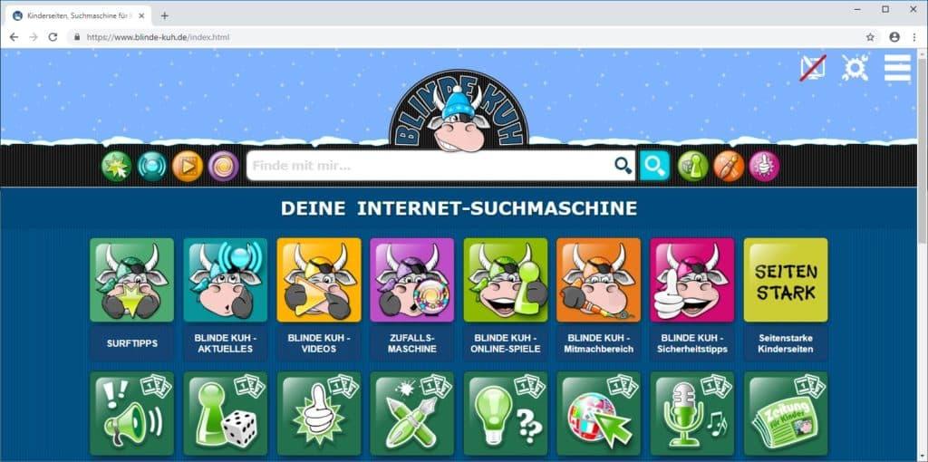 Suchmaschine für Kinder Blinde Kuh