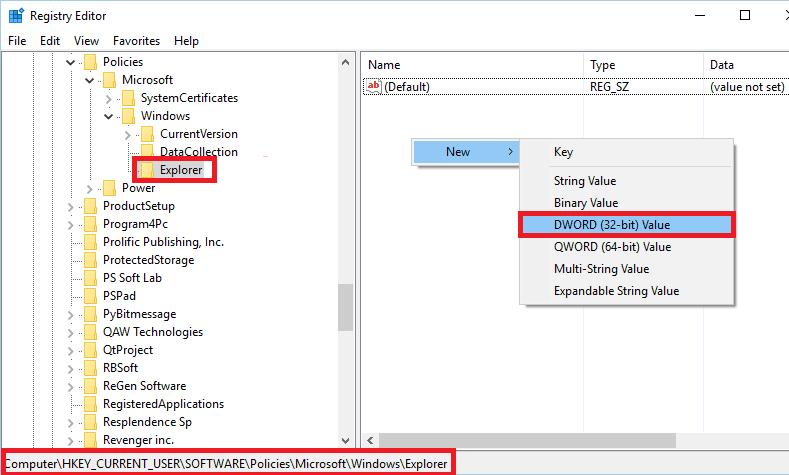 Thumbs.db auf Netzlaufwerk deaktivieren