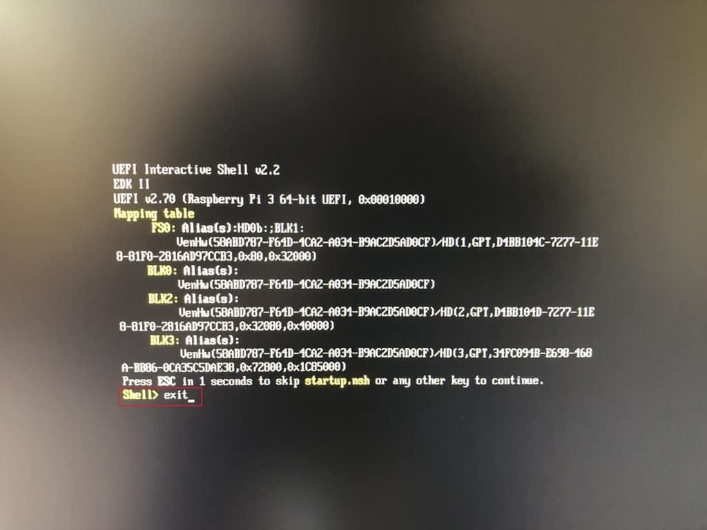 Raspberry Pi erstes Booten