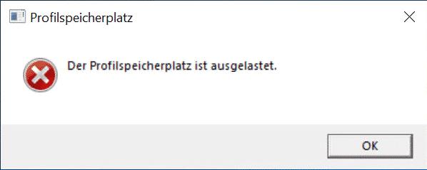 Benutzerprofil Limit GPO