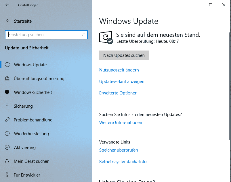Windows 10 1903 download herunterladen Windows Update