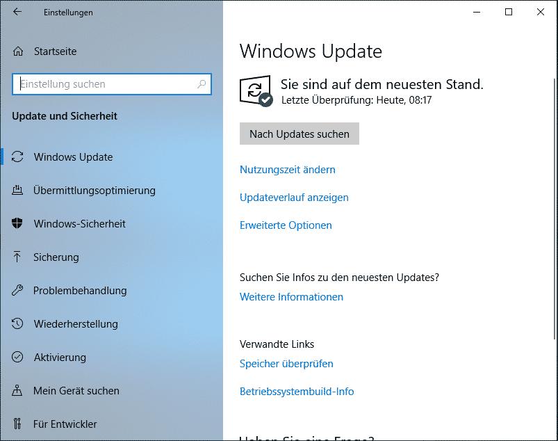 Windows 10 1903 download herunterladen Windows Update