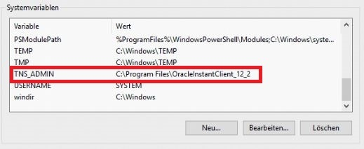 Oracle Instant Client TNS_ADMIN