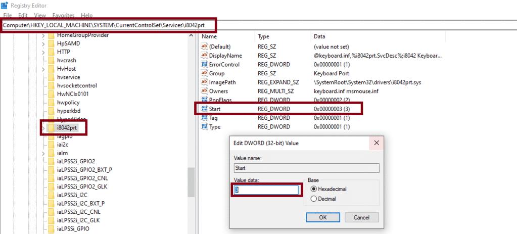 PS/2 deaktiviert bei Windows 10