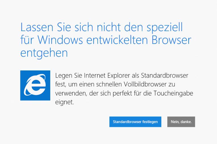 internet explorer standard browser abfrage abschalten