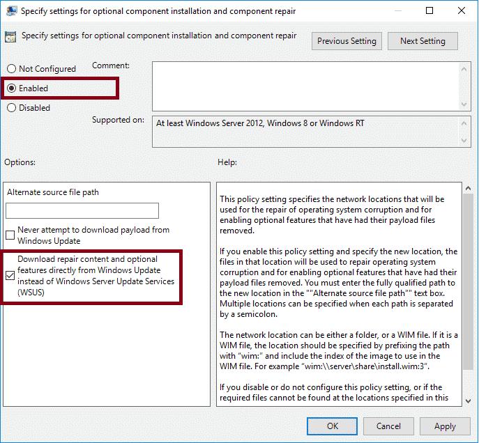 windows optional features gpo gruppenrichtlinie