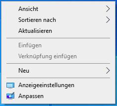 Anzeige drehen Desktop