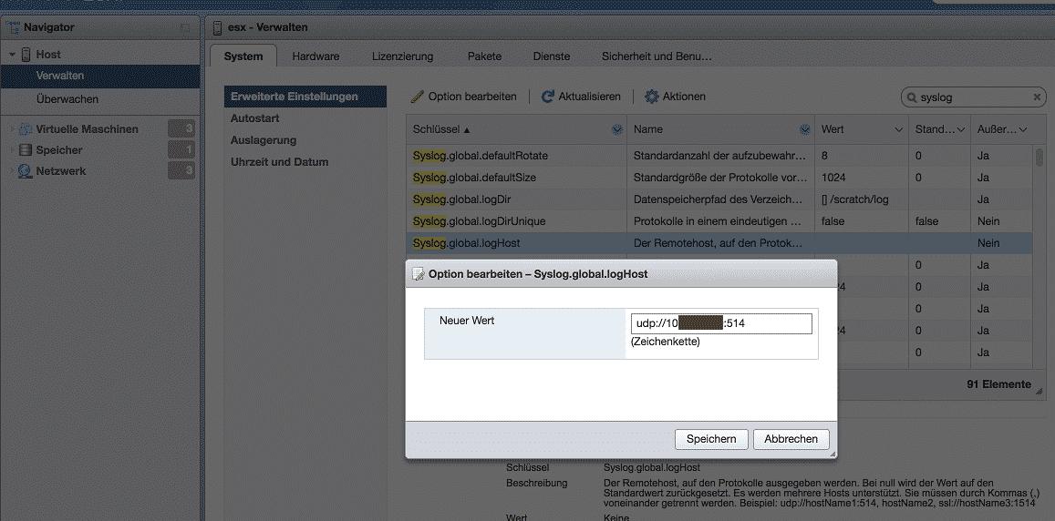 ESX Syslog.global.loghost