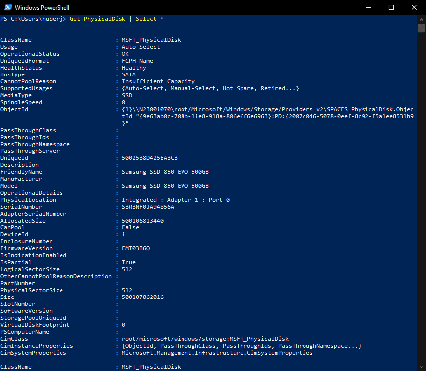 SSD oder HDD Get-PhysicalDisk PowerShell