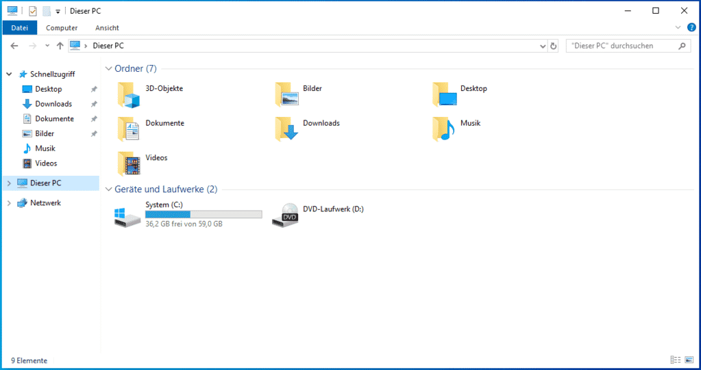 Leere Laufwerke ausblenden Windows