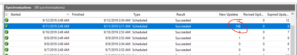 Microsoft Patchday WSUS Server