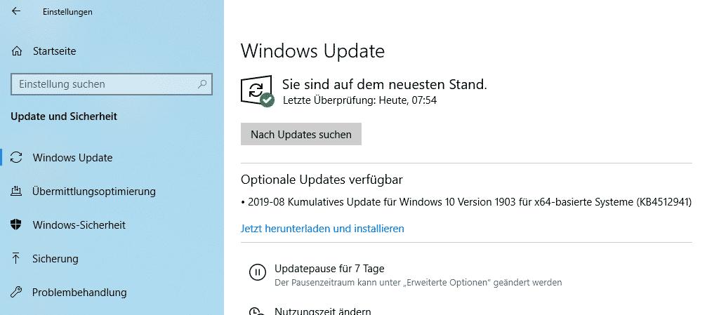 wsus update klassifizierung