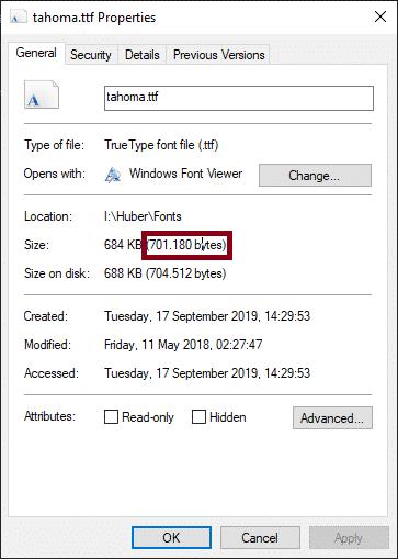 Empirum Font installieren Größe