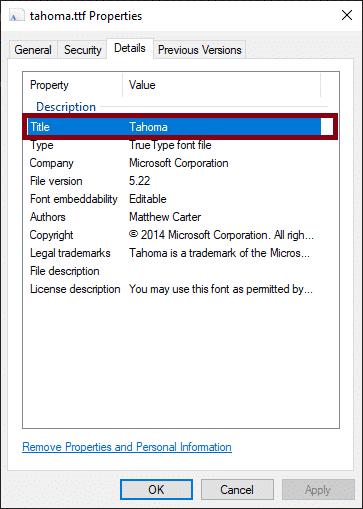 Empirum Schriftart installieren Titel Font