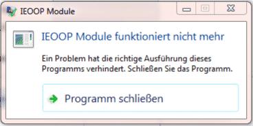 IEOOP Module funktioniert nicht mehr