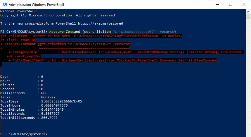 Measure-Command PowerShell Zeit messen