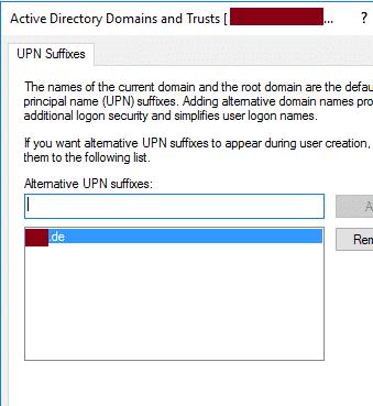 UPN konfigurieren Active Directory