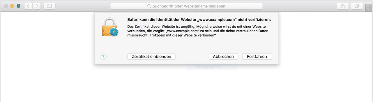 vertrauenswürdige Zertifikate bei iOS & MacOS