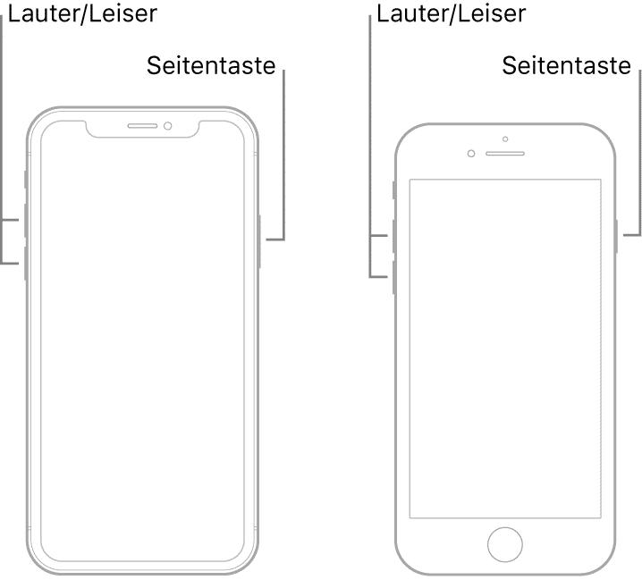 iphone neustart 8 X 11