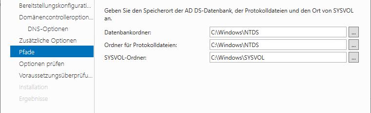 Datenbank-Ordner AD