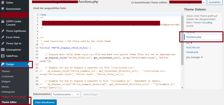 functions.php wordpress
