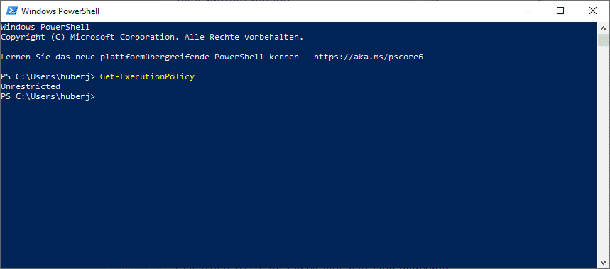 Get-ExecutionPolicy PowerShell