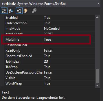 Textbox multiline vb.net Visual Studio