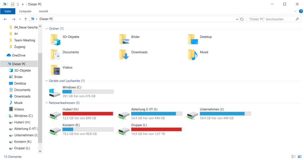 Netzlaufwerke Windows