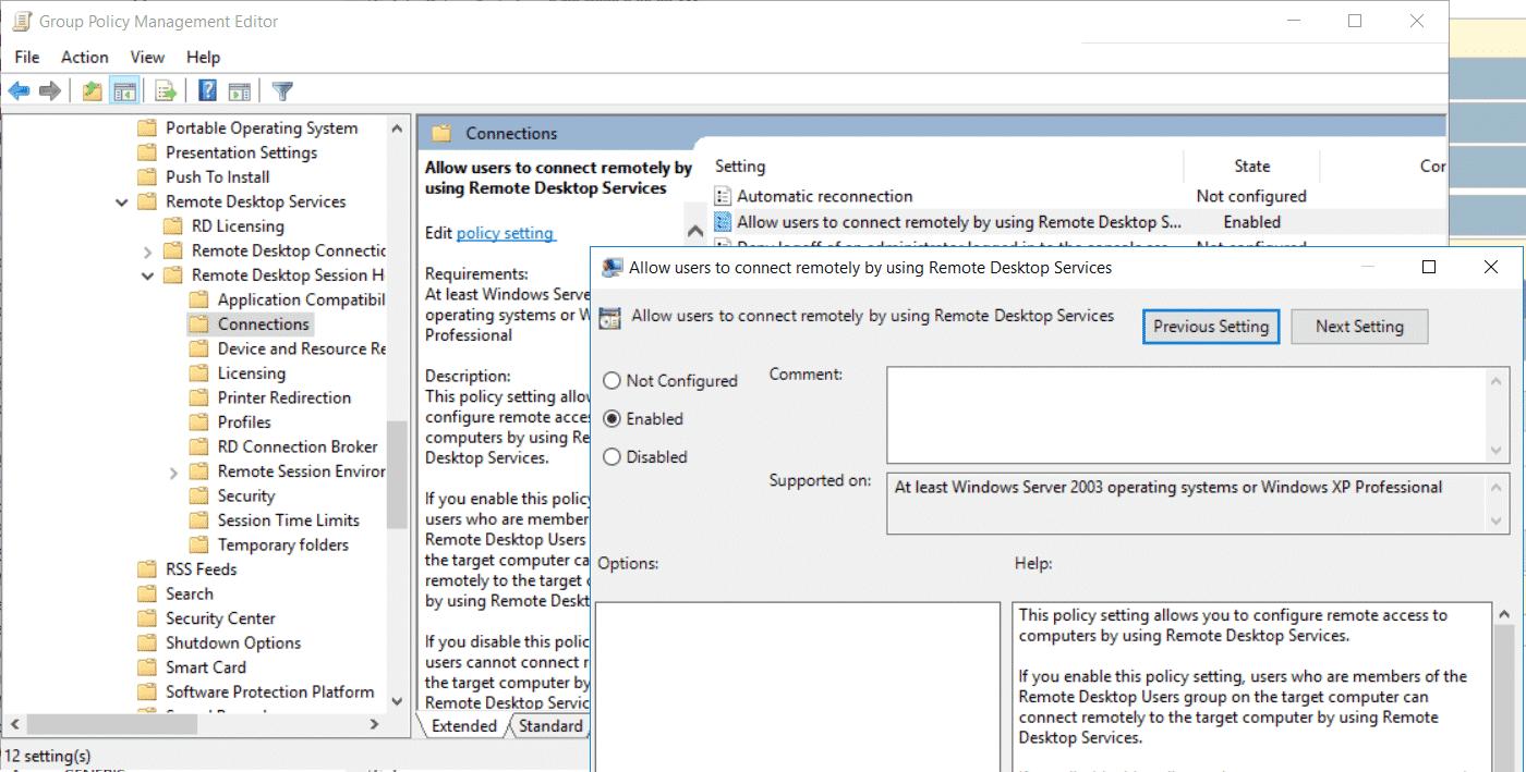 Remote-Desktop aktivieren per Gruppenrichtlinie GPO