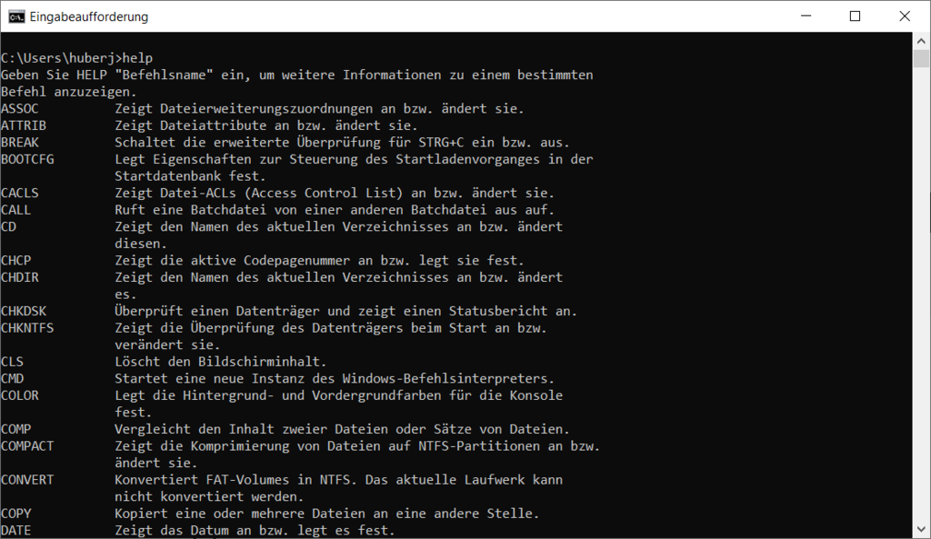 Windows Befehle CMD PowerShell-Script