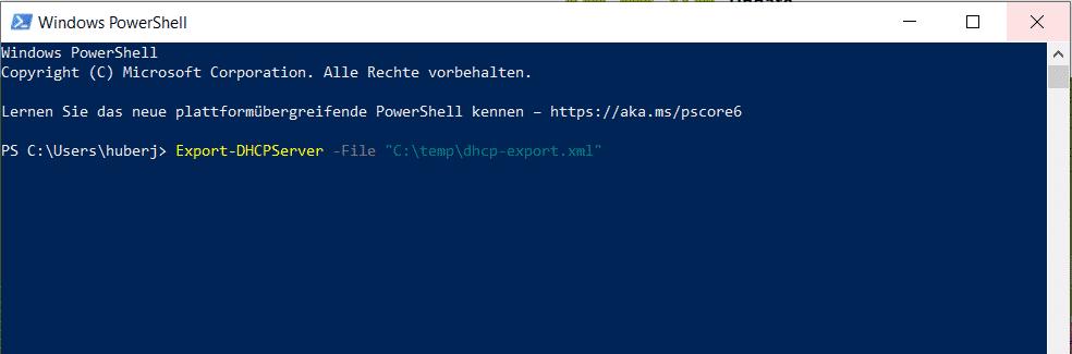 DHCP Server migrieren Umzug mit PowerShell