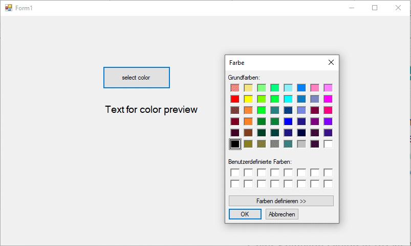 ColorDialog in VB.NET verwenden